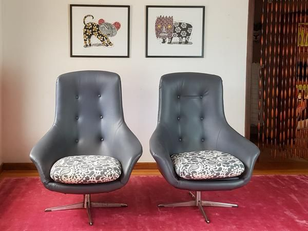 Mid Century Egg Style Chairs