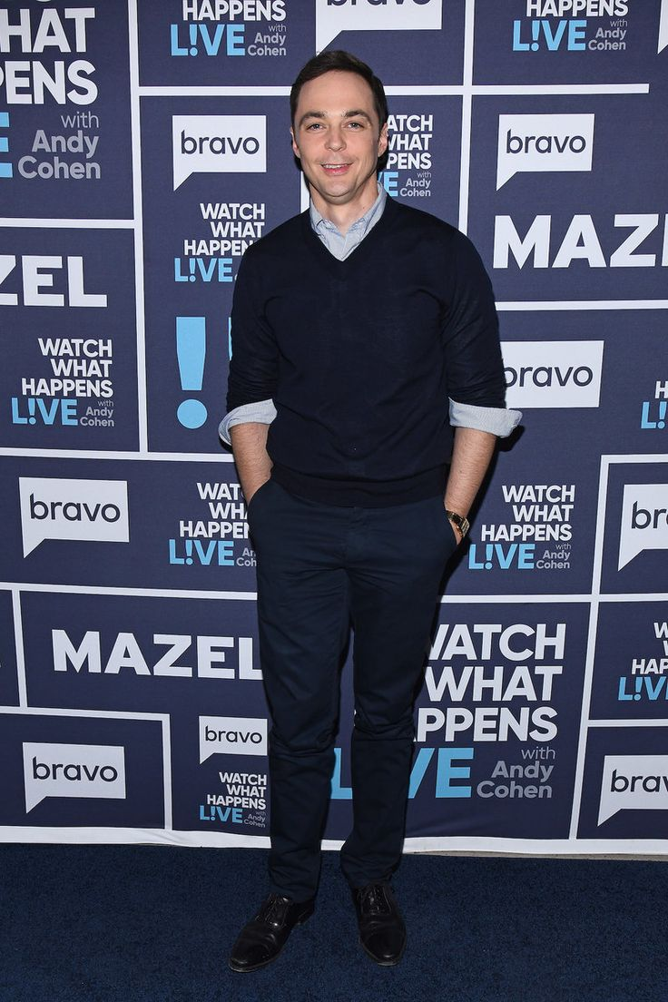 Jim Parsons on Watch What Happens Live with Andy Cohen, May 2017. Navy Blue carpet runner provided by Red Carpet Entrances. Photos from Guest Dressed: May 2017 album. Courtesy of Bravo TV / NBCUni. Be sure to tune in for more celebrity appearances!