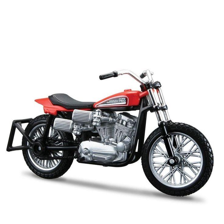 Miniatura Moto Harley-Davidson 1972 XR750 Racing Bike Maisto 1:18 - Machine Cult   A loja das camisetas de carro e moto