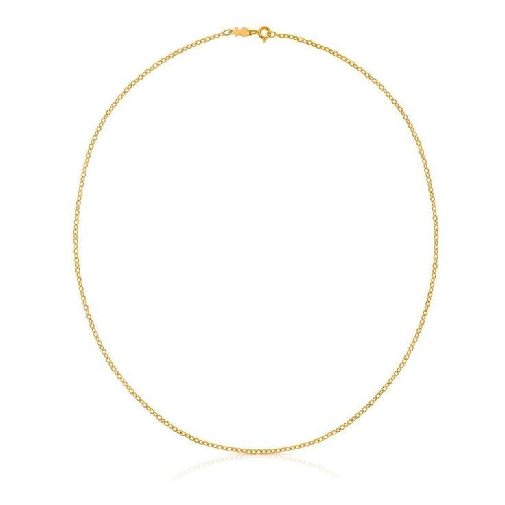 Złoty łańcuszek Tous o długości 45 cm