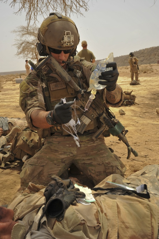 USAF Pararescue. The best of the best. Finest medic/warrior you'll ever have the joy of working alongside.