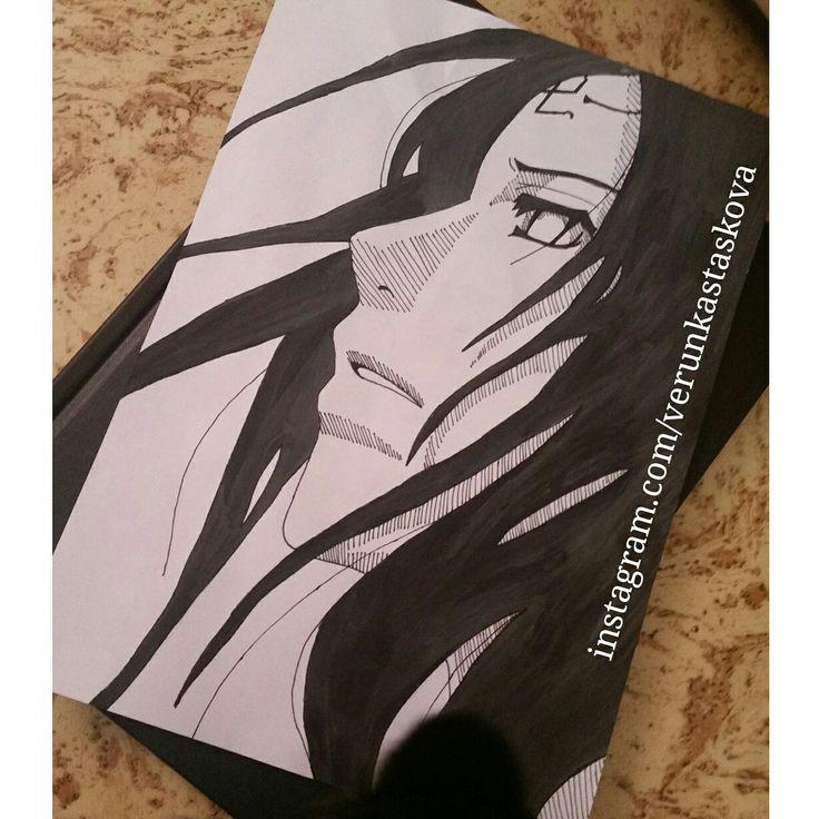 Paper paiting, watercolor. | Anime/manga: Naruto / Naruto Shippuden [Hyuga Neji]