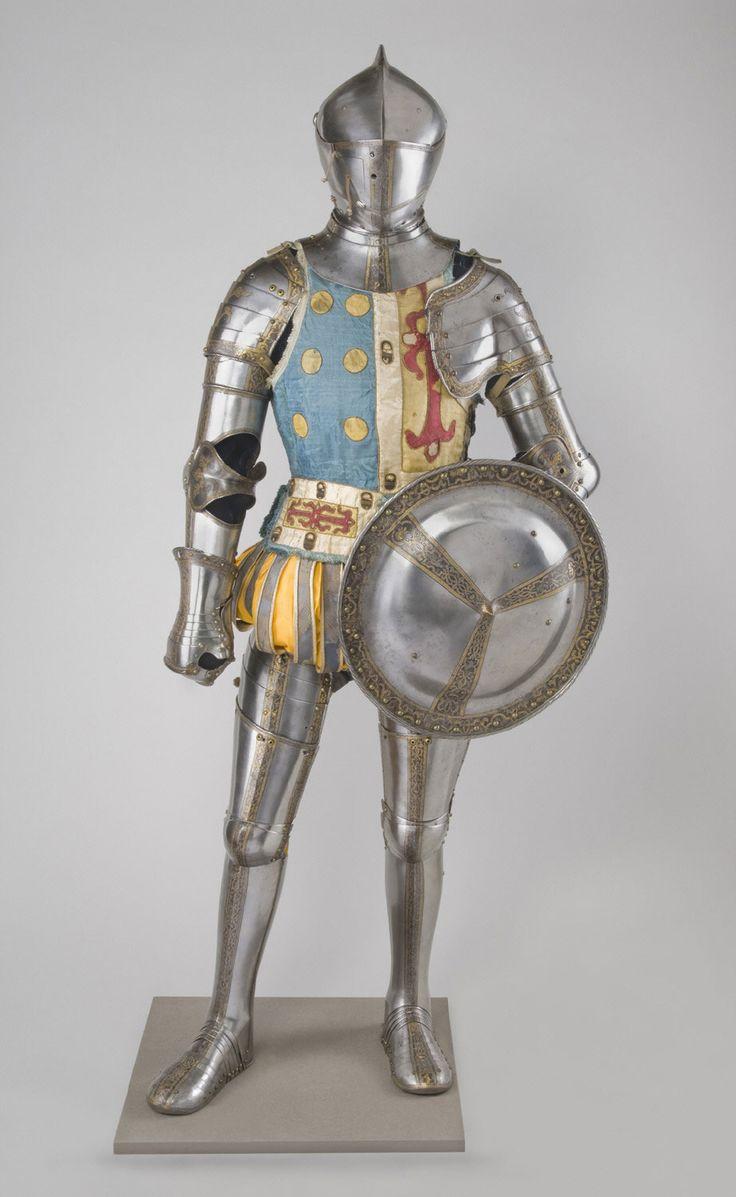 Armadura, fabricada en Augsburgo (Alemania), 1560.  Philadelphia Museum of Art