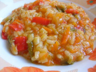 Υλικα 1/2 κουπα ρυζι καρολινα 2 μετριες ωριμες ντοματες στο μπλεντερ 2 φρεσκα κρεμμυδακια ψιλοκομμενα 1 μικρο πρασο ψιλοκομμενο 2 με...