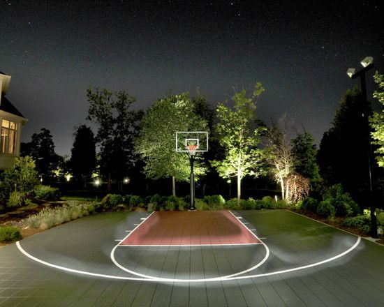 Outdoor Basketball Court--so redoing ours to look like this!!