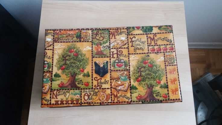 Tea box with eight compartments by CraftsElisa on Etsy