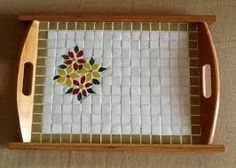 Resultado de imagem para bandeja com mosaico