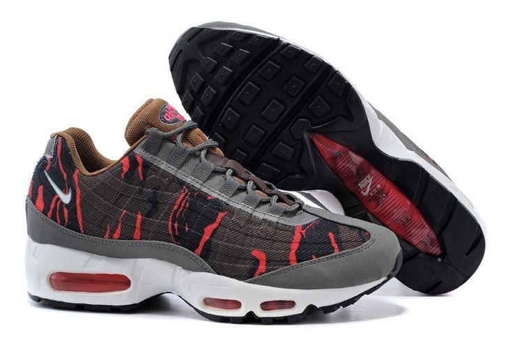 Nike Air Max 95 PREM TAPE 599425-260 CAMO PACK Men Brown/Red