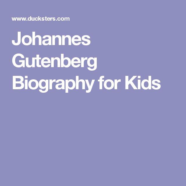 Johannes Gutenberg Biography for Kids