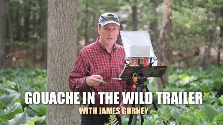 Gouache in the Wild Trailer with James Gurney