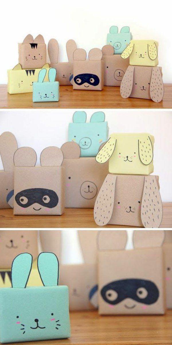Des animaux - boites d'emballage