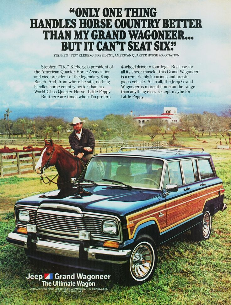 Jeep Grand Wagoneer ad from 1985.