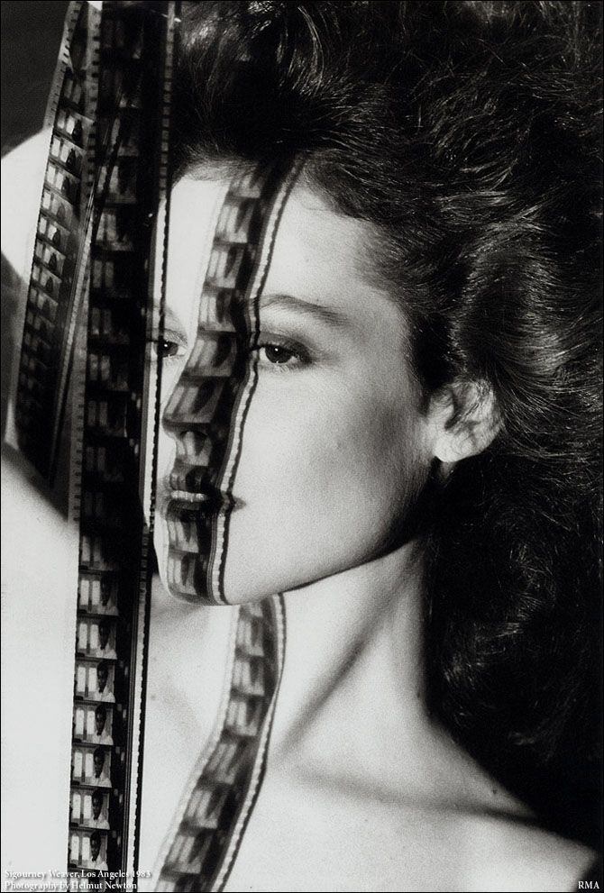 helmut newton  /www.shotnlust.com/filter/photo#865111/Helmut-Newton: Helmutnewton, Photographer, Los Angeles, Portraits, Sigourney Weaver, Helmut Newton, Black, Photography
