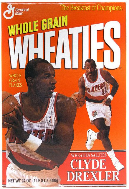 Unopened 1992 Clyde Drexler Wheaties Box - Great Condition!    Up for sale is an unopened box of Wheaties featuring Portland Trailblazer Clyde Drexler from 1992. Box is in excellent condition, better than most you'll find out there.  Tin Can Alley www.bagtheweb.com/b/UG8KRi  inside the Castle Rock Mercantile Antique Mall  160 H Huntington Avenue N  Castle Rock, WA 98611  bagtheweb.com/b/E7Kxc0  Vintage Northwest: bagtheweb.com/vintage
