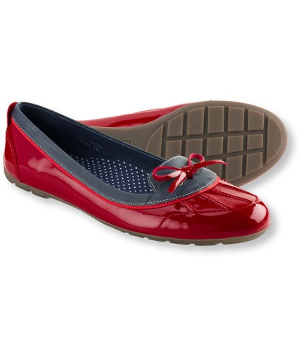 """I get so many compliments on my grown-up """"duck shoes."""" I bought them in three colors and they are perfect for rainy climates. Your feet stay dry and comfortable all day long.   L.L. Bean's Women's Coastal Rain Skimmers"""