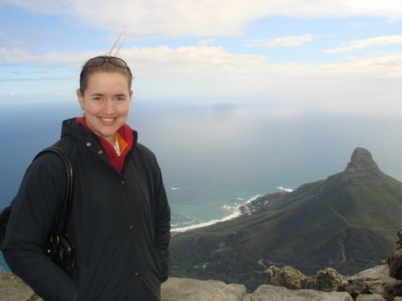 Here I am at Table Top Mountain in Cape Town, South Africa