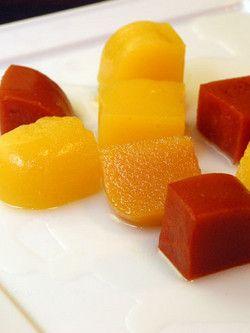 Gelatinas de frutas con Agar Agar