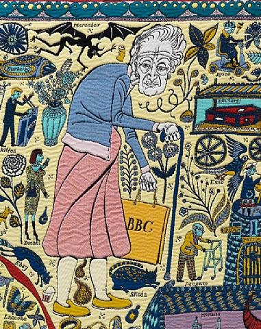 The Walthamstow Tapestry (detail) Grayson Perry (British, b.1960)