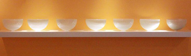 "Margaret Spacapan The Sphere, II   blown, coldworked glass  5"" x 62"" x 8"""