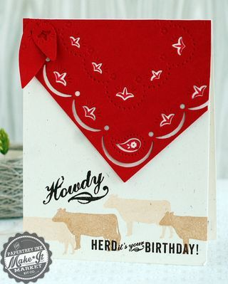 Howdy Bandana Card by Betsy Veldman for Papertrey Ink (August 2014)