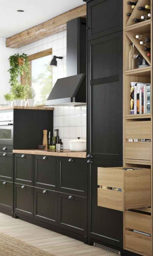 56 Black Kitchen Cabinet Ideas For Stylish Cooks 2020 Part 40