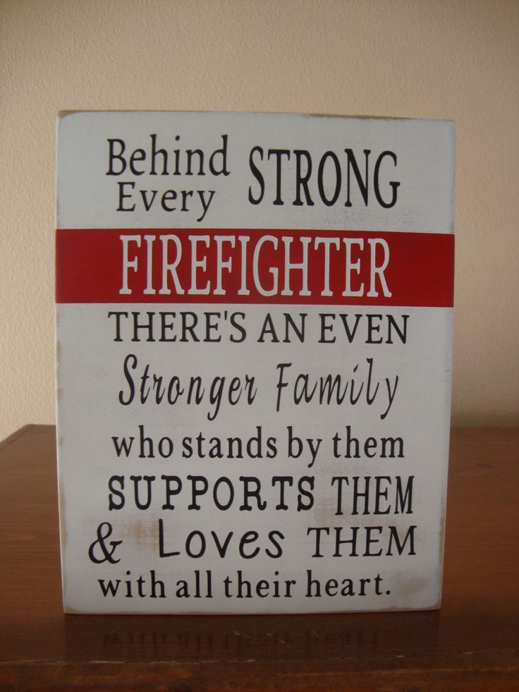 Behind Every Firefighter Family Loves Them, Wood Sign, Firefighter Sign, Firefighter Decor, Firefighter Gift, Firefighter Wall Art by DeannasCraftCottage on Etsy