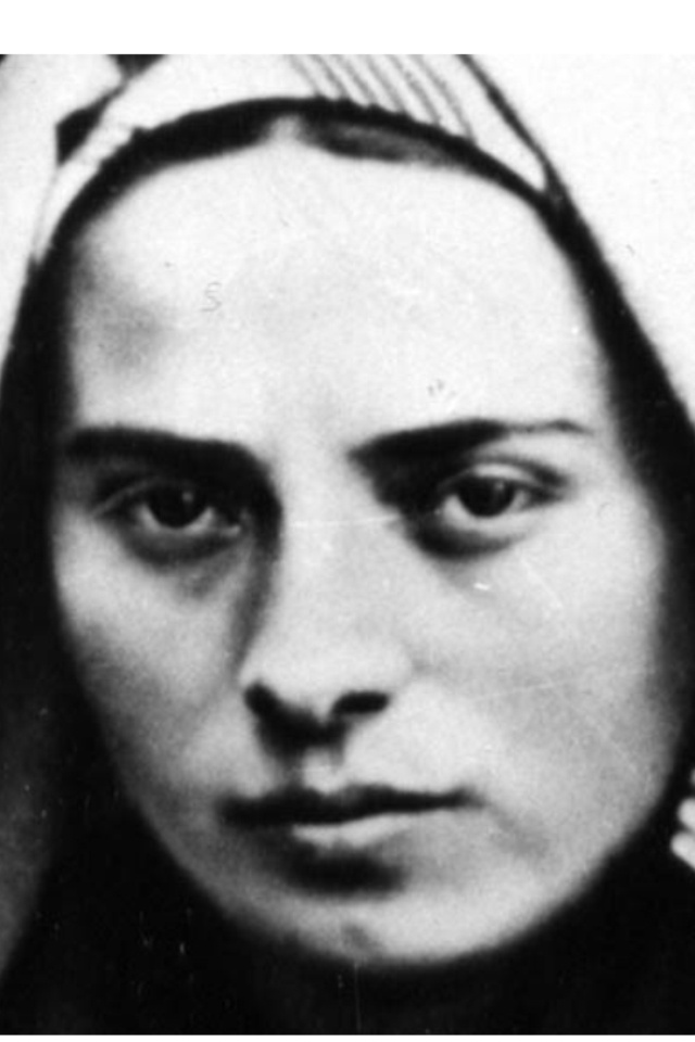 """St Bernadette Soubirous; she is also an """"incorruptible"""", meaning her body has not decayed after death"""
