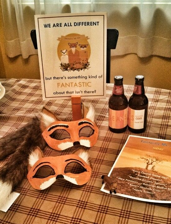 Fantastic Mr Fox party supplies all handmade by me :)