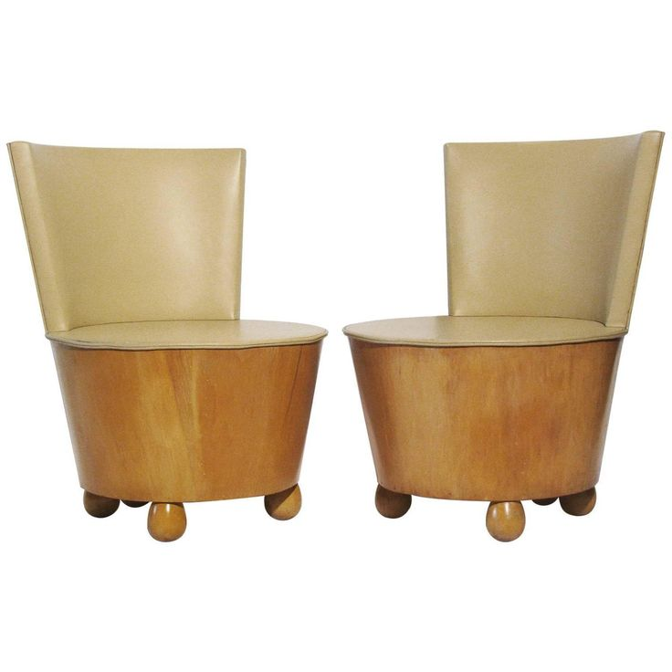 Elsie de Wolfe-Style Deco Tub Chairs - A Pair on Chairish.com                                                                                                                                                                                 More