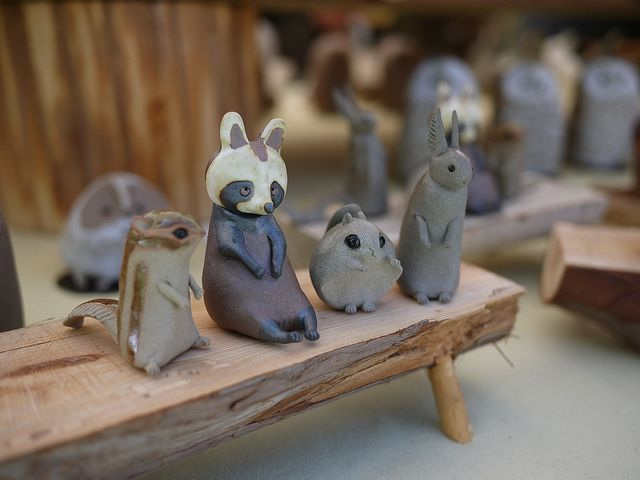 kasama pottery (animal figures) by shagzi23, via Flickr