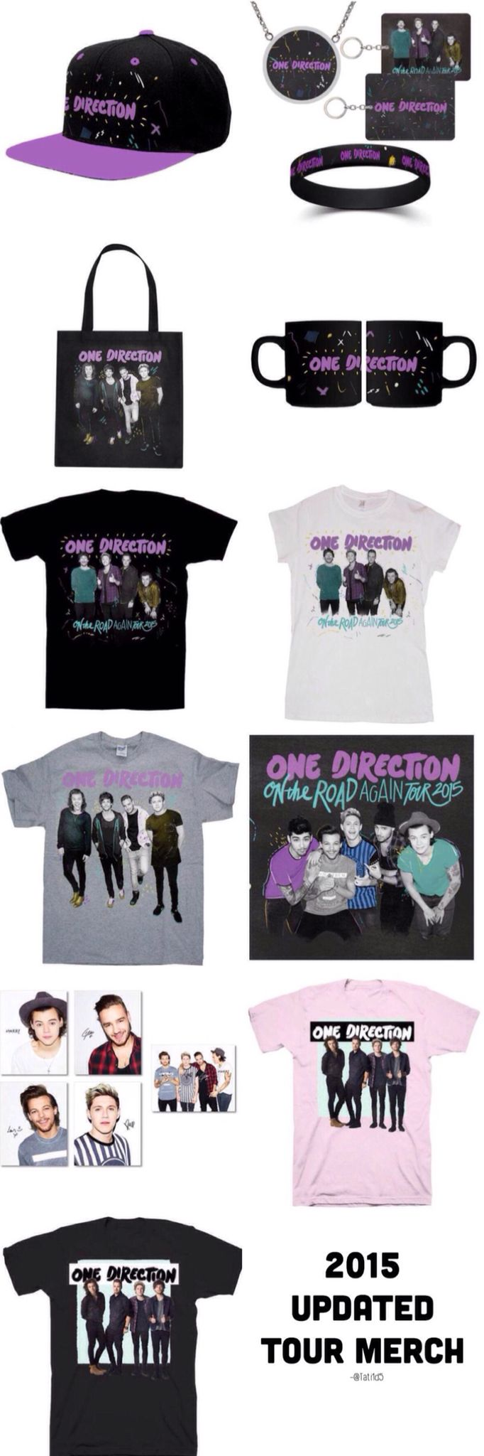 Design t shirt one direction - 2015 Updated Otra Tour Merch These Are Available Online And At The Concert One Direction T Shirtsone