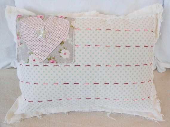 Pastel American Flag style Pillow Cover, 12 x 16 cotton pillow cover