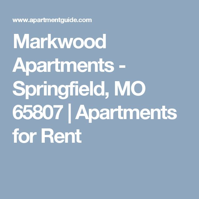 Markwood Apartments - Springfield, MO 65807 | Apartments for Rent
