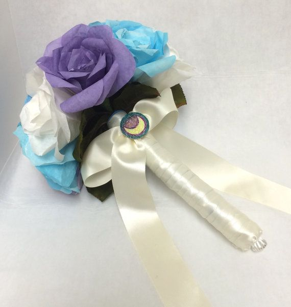 Sailor moon wedding bouquet paper flowers paper by TheElegantOtaku