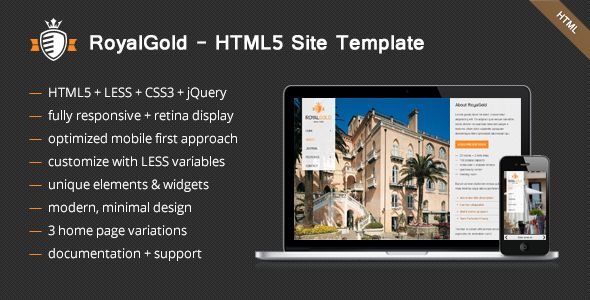 RoyalGold - Unique HTML5 Site Template