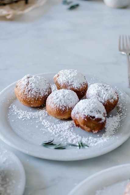 rosemary & LINDOR white chocolate truffle filled beignets