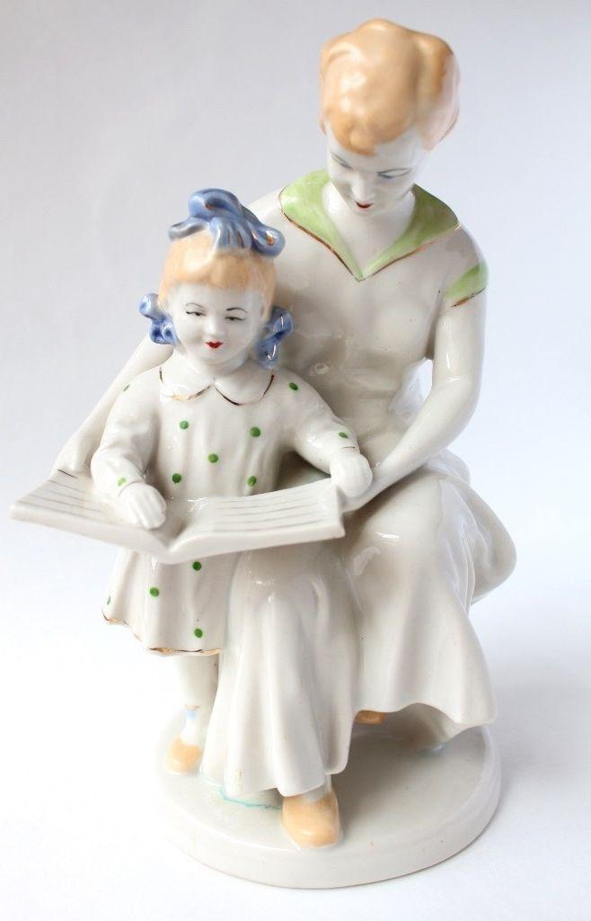 Vintage figure, Sculpture Figurines, unigue vintage, mother and child, vintage Soviet porcelain 1950-1960, very rare, free Shipping. https://www.etsy.com/listing/243935251/vintage-figure-sculpture-figurines?ref=listing-shop-header-1