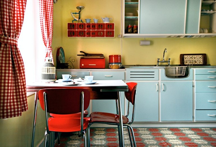1960s kitchen at the Norwegian Museum of Cultural History.