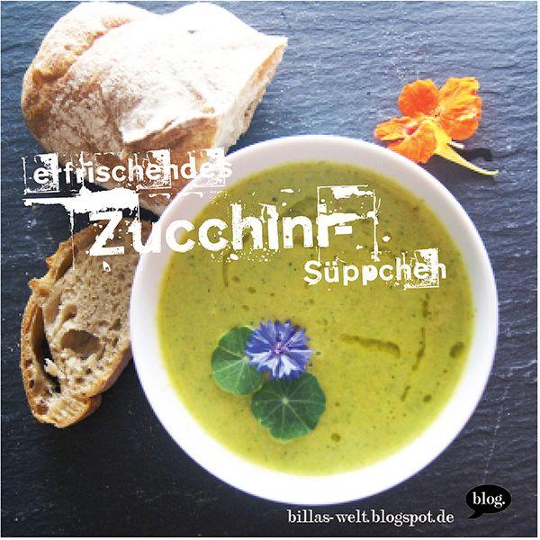 Kalte Zucchinisuppe