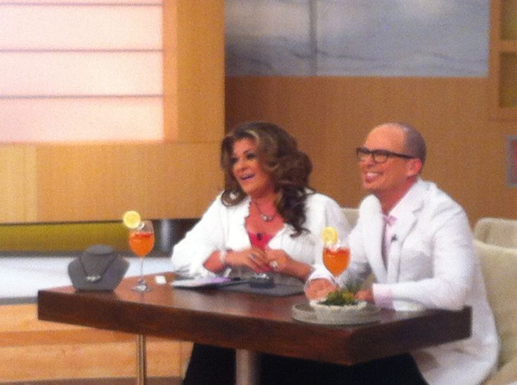 On air with my good friend Antonella Nester.  This was July 2014.  She really is such a sweet heart and so so funny... #qvc #behindthescenes #friends