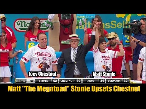 Joey Chestnut Loses to Matt Stonie in Nathan's Famous Hot Dog Eating Contest [VIDEO] | FatManWriting