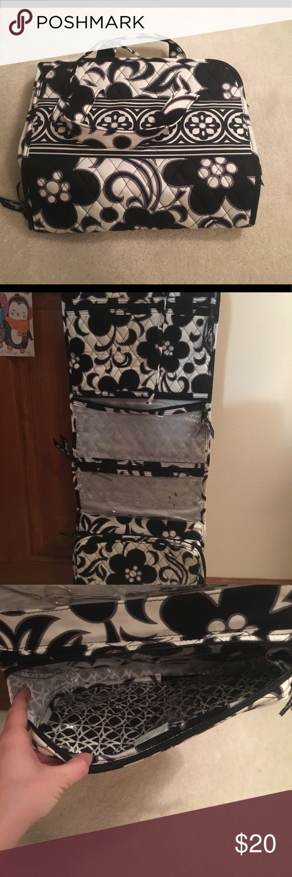Vera Bradley hanging cosmetic bag Gently used! Will clean before shipping Vera Bradley Bags Cosmetic Bags & Cases
