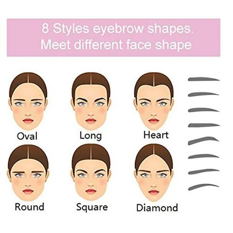Reusable Eyebrow Stencils Grooming Drawing Guide Eye Brow Templates for Eyebrows Enhancer Styling Tools Random Colors 8 Shapes of Eyebrow Stencils - You can choose a suitable shape and best size eyebrow stencil according to your natural brow shape, Enough for your daily use.