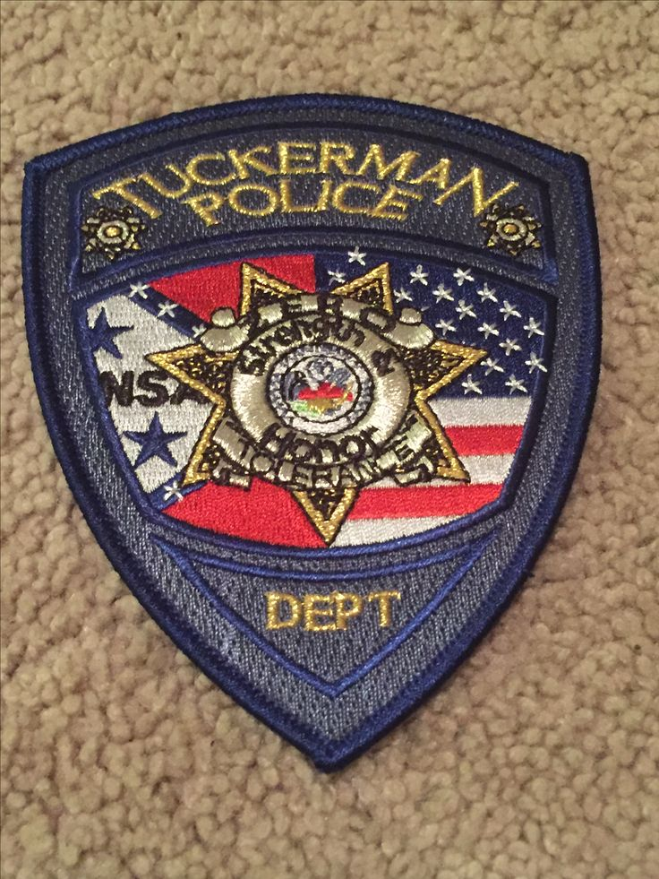 Tuckerman PD Police patches, Police department, Law