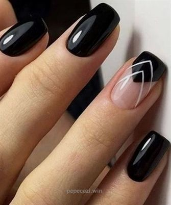 Popular Black Nail Art Designs 2018 for Prom… – Kolory tęczy