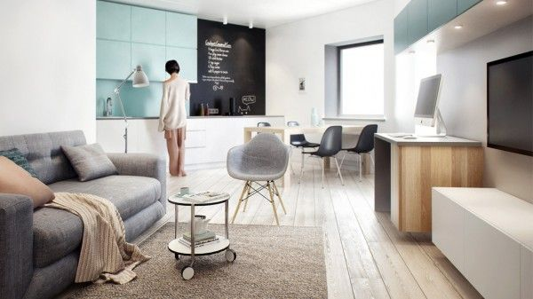 Although originally designed with just one bedroom, the team at Int2 was able to turn this 64 square meter St. Petersburg apartment into a s...