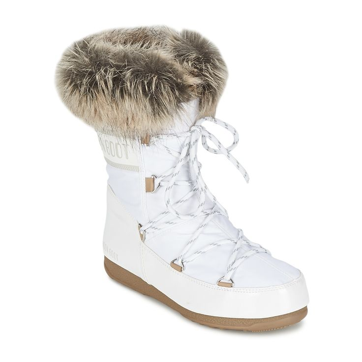 Bottes de neige Moon Boot MOON BOOT WE MONACO LOW Blanc prix promo Moon Boot femme Spartoo 135.00 €