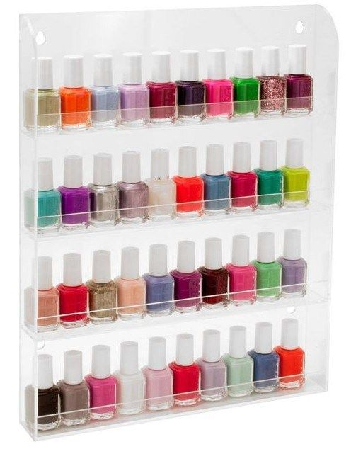 Nail polish storage - rangement vernis à ongles - étagère vernis Fabulous Ideas