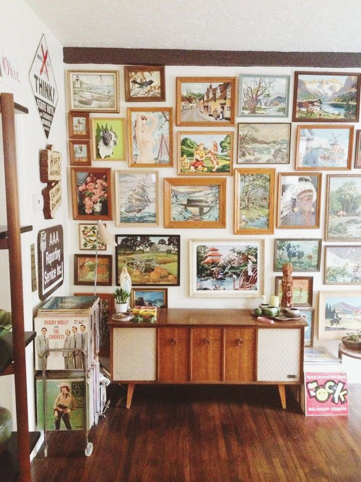 Gallery Art Walls On The Cheap Vintage Painting Art Gallery