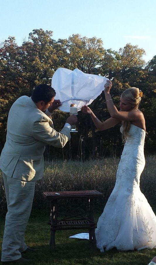 Fall Wedding Ideas Outdoor Chinese Lantern Light A For Unity Candle